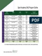 sport academy saq program outline