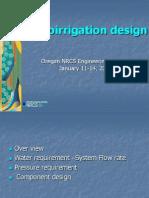 Micro Irrigation Design Method
