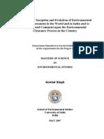 Environmental Impact Assessment Thesis