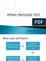 Piping Pressure Test