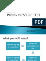 Underground Piping Pressure Test Record