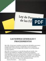 Ley de Personal de Las FFAA