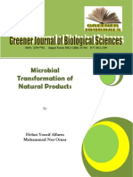 Microbial Transformation of Natural Products