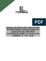 L3_L3V_L3VE - Termoconvectoare Gaz - Montaj, Utilizare Si Service