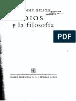 Étienne Gilson Dios y la filosofía