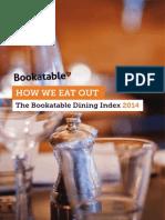 Bookatable Dining Index 2014