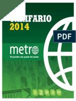 Tarifario METRO 2014