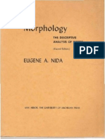 NIDA Eugene Morphology the Descriptive Analysis of Words