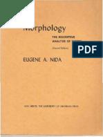 NIDA Eugene Morphology the Descriptive Analysis of Words