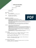 CV Example 6