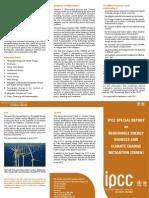 Ipcc Special Report on Renewable Energy