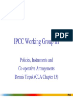 IPCC Working Group III, Policies Instrument and Comperative Arrangements