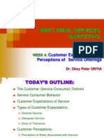 MRKT 55030 - Week 4 - Customer Expectations and Perceptions of Service Offerings