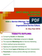 MRKT 55030 - Week 2 - Service Offerings; Technology-Aided Service Delivery;