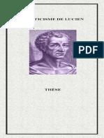 L'atticisme de Lucien (Διδακτορικό) – http://www.projethomere.com