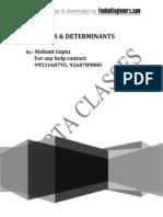 Matrices & Determinant