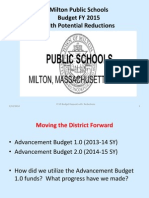 FY 15 School Budget With Reduction List