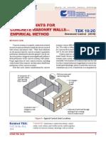 TEK 10-2C_Control Joints for CMU