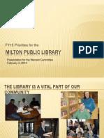 FY 15 Library Budget presentation