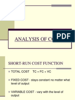 Analysis of Costs