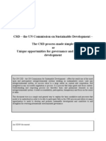 Introduction to the United Nations Commission on Sustainable Development Process