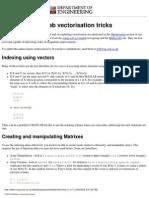 Matlab Tricks for Vectors