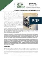 Fusarium Wilt Diseases of Herbaceous Ornamentals