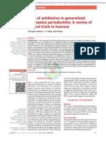 Ahuja a. Role of Antibiotics in Generalized Aggressive Periodontitis