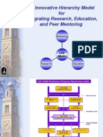 An Innovative Hierarchy Model for Integrating Research, Education, and Peer Mentoring