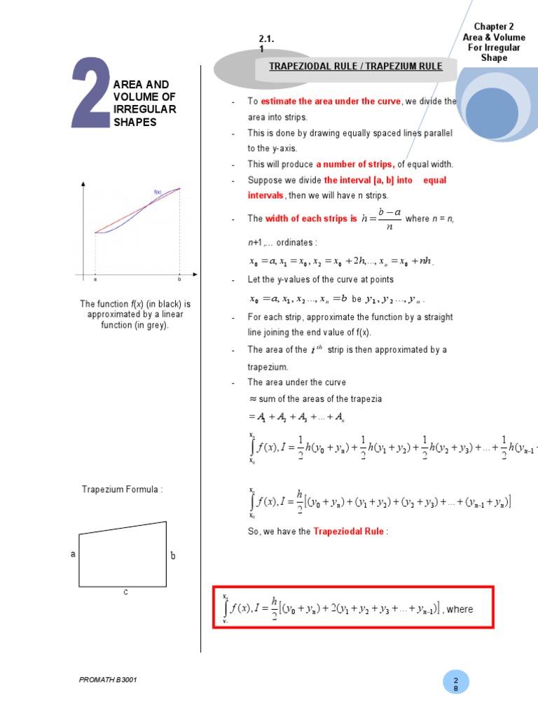 Chapter 2 Area for Irregular Shape | Integral | Calculus