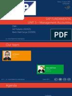 SAP-Fundamental UNIT 5 (Financial Accounting - Management Accounting)