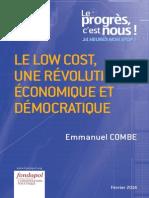Emmanuel Combe - Le low cost, une révolution économique et démocratique