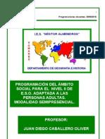 PROGRAMACIÓN ÁMBITO SOCIAL ESPA SEMIPRESENCIAL 2009/10