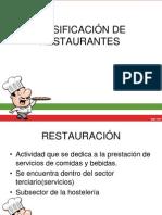 clasificación de restaurantes