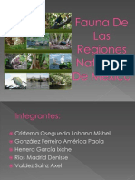 Fauna De Las Regiones Naturales De México
