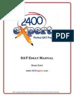 2400Expert SAT Essay Manual