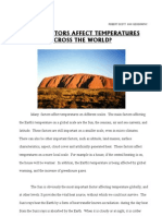 Robert Scott's essay about the factors affecting temperature
