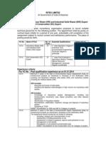 RITES Ltd Job Notification - IsW and SC Experts