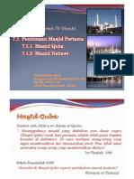 Pendidikan Islam - Pembinaan Masjid Pertama