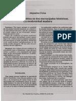 Feminismo y Politica en Dos Encrucijadas Historicas. La Modernidad Madura