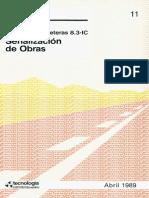 Norma de Carreteras O.C. de la D.G.C. 8.3 –I.C. Señalización de Obras