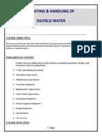 Treating & Handling of Oil Field Water