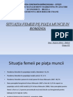 Situatie Femeii Pe Piata Muncii