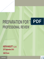 Preparation for the Review