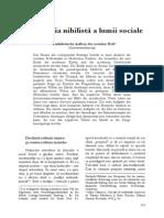 George Bondor - 0 Constructia Nihilista a Lumii Sociale