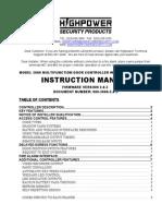 Highpower 3000 Multifunction Door Controller Instruction Manual 2.0.3