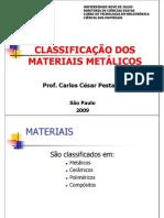 Classificação dos Materiais Metalicos