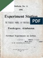 Fertilizer Experiments on Cotton
