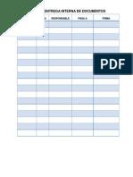 Control Entrega Interna de Documentos