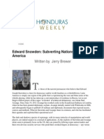 Edward Snowden is a Conduit of Latin America Subversion
